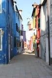 Casas de Burano Veneza Italy Foto de Stock