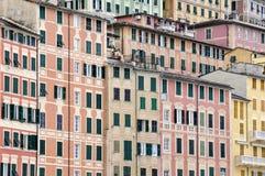 Casas de Camogli imagen de archivo