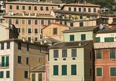 Casas de Camogli Foto de Stock Royalty Free