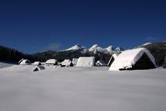 Casas de campo alpinas Foto de Stock