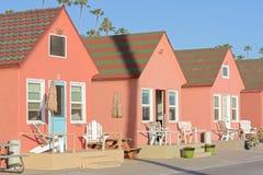 Casas de campo bonitos da praia de Califórnia Fotos de Stock
