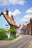 Casas de campo coloridas imagem de stock