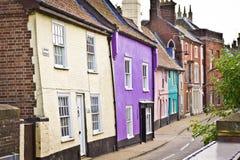 Casas de campo coloridas imagens de stock