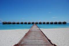 Casas de campo da água de Maldives imagem de stock royalty free