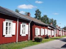Casas de campo da cidade da igreja Fotos de Stock Royalty Free
