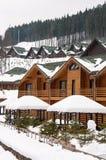 Casas de campo de madeira Imagens de Stock