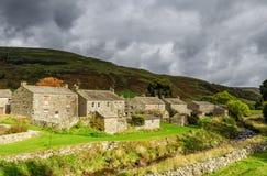 Casas de campo de pedra em Thwaite, Inglaterra Foto de Stock