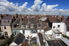 Casas de campo do beira-mar de Inglaterra Foto de Stock Royalty Free