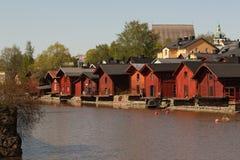 Casas de campo do beira-rio Fotografia de Stock Royalty Free