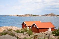 Casas de campo do verão Imagens de Stock Royalty Free