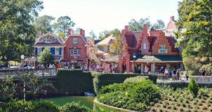 Casas de campo e casa de campo no mundo Orlando Florida de Disney Imagem de Stock Royalty Free