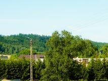 Casas de campo em Wiezyca, região de Kashubian, Polônia fotos de stock royalty free
