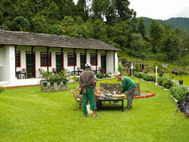 Casas de campo en Dhampus, Nepal Fotos de archivo