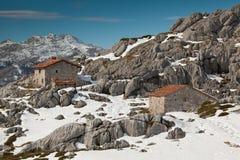 Casas de campo en Picos de Europa Foto de archivo