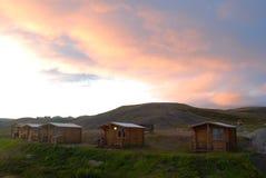 Casas de campo en Reykjahlid, Islandia imágenes de archivo libres de regalías