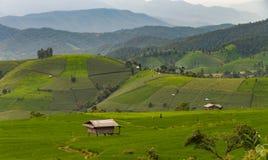 Casas de campo entre a natureza bonita Imagens de Stock
