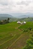 Casas de campo entre a natureza bonita fotografia de stock royalty free