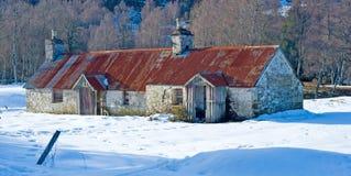 Casas de campo na neve. Foto de Stock Royalty Free