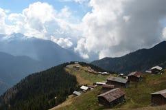 Casas de campo na região do Mar Negro, Turquia foto de stock