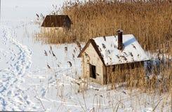 Casas de campo para los pájaros. Fotografía de archivo libre de regalías