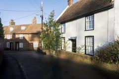 Casas de campo velhas, Chartham, Kent, Reino Unido fotos de stock