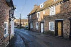 Casas de campo velhas, Chartham, Kent, Reino Unido foto de stock