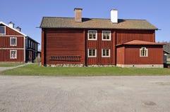 Casas de campo vermelhas Fotos de Stock Royalty Free