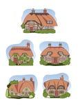 Casas de campo viejas stock de ilustración