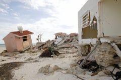 Casas de Cancun após a tempestade do furacão fotografia de stock royalty free