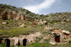 Casas de Cappadocia Foto de archivo