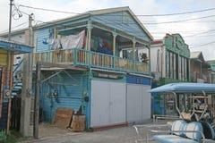 Casas de Caye fotografía de archivo libre de regalías