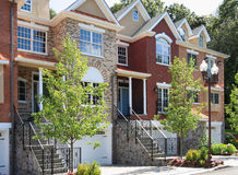 Casas de cidade Imagens de Stock Royalty Free