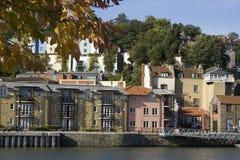 Casas de cidade da doca de Bristol Fotos de Stock