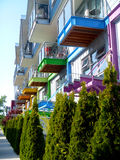Casas de cidade em Victoria, Canadá Imagens de Stock
