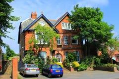 Casas de cidade pequena inglesas fotos de stock royalty free