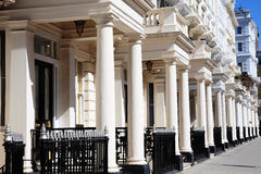 Casas de cidade terraced Georgian Imagens de Stock