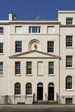Casas de cidade terraced Georgian, Londres riqueza foto de stock royalty free