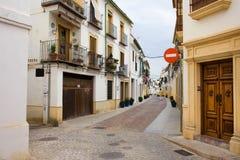 Casas de cidade velhas de Córdova Fotografia de Stock Royalty Free