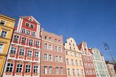 Casas de cidade velhas de Wroclaw Imagens de Stock