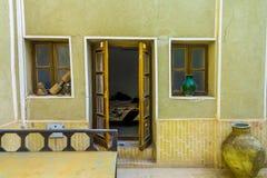 Casas de cidade velhas 01 de Yazd imagem de stock