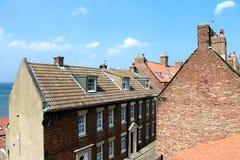 Casas de ciudad de Whitby Imagen de archivo libre de regalías