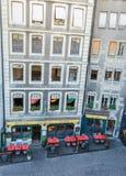 Casas de ciudad en Ginebra, Suiza Imagen de archivo