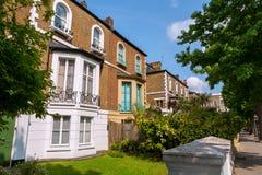 Casas de ciudad. Londres, Inglaterra Imagen de archivo