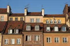 Casas de ciudad viejas Foto de archivo