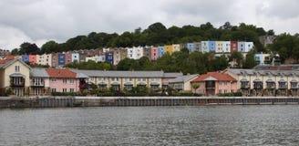 Casas de Clifton, Bristol Fotografía de archivo libre de regalías