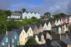 Casas de Cobh Fotos de archivo libres de regalías