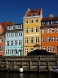 Casas de Copenhaga, Dinamarca Fotografia de Stock Royalty Free