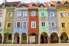"""Casas de cortiço, """"de PoznaÅ, Polônia fotografia de stock royalty free"""
