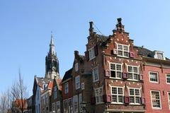 Casas de Delft Fotografía de archivo