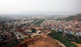 Casas de desatención en Jaipur, la India. Imagen de archivo libre de regalías